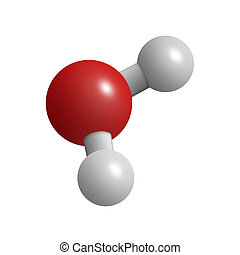 Water molecule - 3D illustration of a water molecule H2O