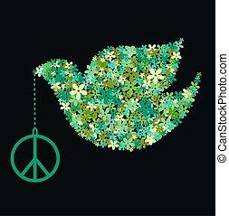 peace dove - green peace dove