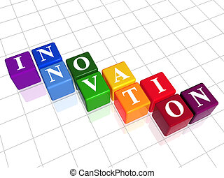 innovation in colour - 3d colour boxes with text -...