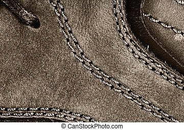 Leather shoe background