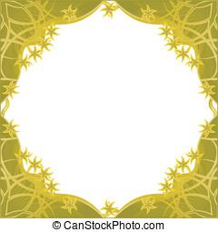 Fantasy golden flowers framework