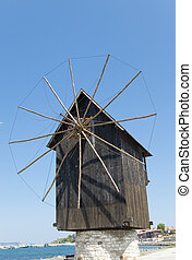 old wooden mill - Bulgaria, city Nesebr- under the aegis...