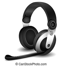headphones - illustration of headphones on white background