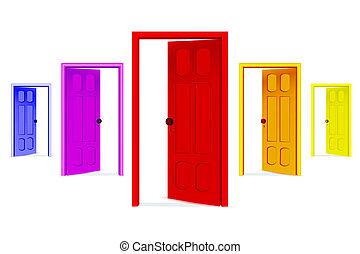 Nyílik, ajtók