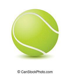 Tennis Ball - illustration of tennis ball on isolated white...