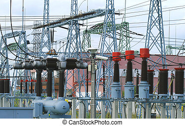 Electricity transformation station - Power plant...