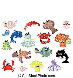 Sea set - Sea animals