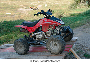 All-terrain vehicle - Small dirt all-terrain vehicle by the...
