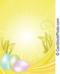 Yellow easter background
