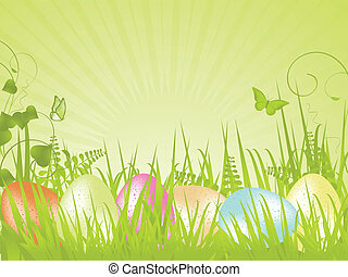 green tranquil easter background