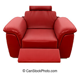 Red Sofa. Vector