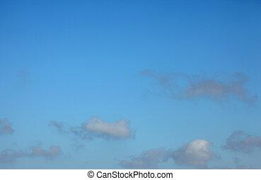 Cumulus Clouds - A stock photo of some cumulus clouds set...