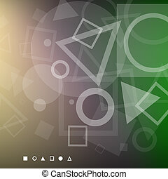 Abstract background of white geometrical shapes