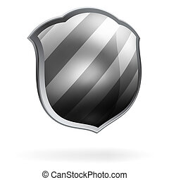 Protection shield template. EPS 8