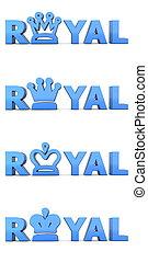 Royal Blue Word Royal - Crowns - word Royal with shiny royal...