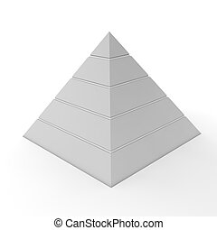 Plain Pyramid Chart - Five Levels - layered pyramid chart...