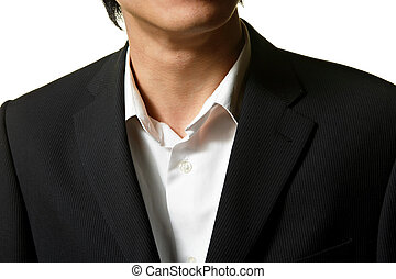 Close up of man in business suit