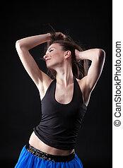 Beauty girl in dance