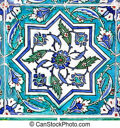 Vintage tile in turquoise - Photograph of Ottomans vintage...