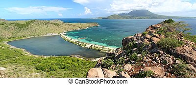 Majors Bay Beach - Saint Kitts - Panoramic view of Majors...