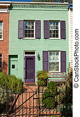 Washington Row House Home Italianate Style Fence -...
