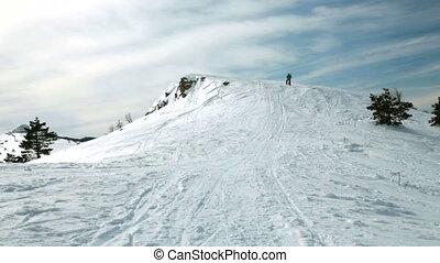 ski mountaineering Ai-Petri, Crimea, Ukraine