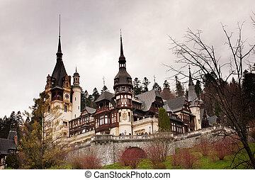 Peles Castle in Romania - Peles Castle - famous romanian...