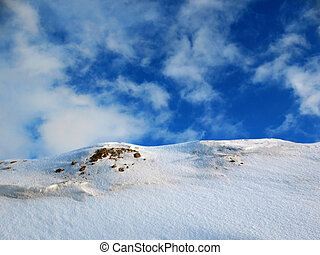 Snow cliff 2 - Snow cliff in mountains