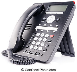 IP phone set over white - Office IP telephone set with LCD...