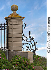 Fancy Wrought Iron Gate - An antique gate found along the...