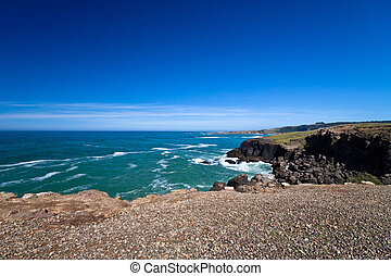 Ocean view. Slope Point, Catlins, South Island, New Zealand