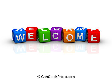 welcome (colorful buzzword cubes series)