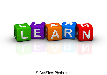learn (colorful cubes words series)