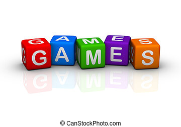 games colorful buzzword cubes series
