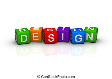 design buzzword colorful cubes series