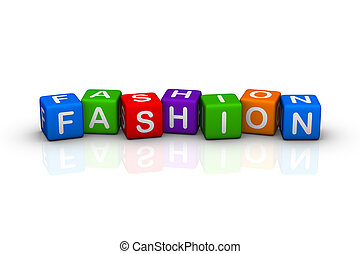 fashion buzzword colorful cubes series