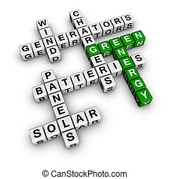Alternative Green Energy 3D crossword cubes series