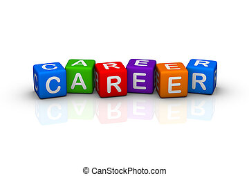 career buzzword colorful cubes series