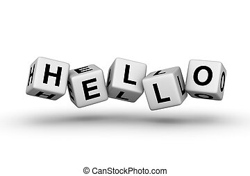 hello sign for web page