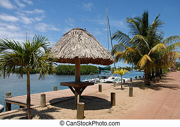 Belize,Placencia - Beach of peninsula Placencia...