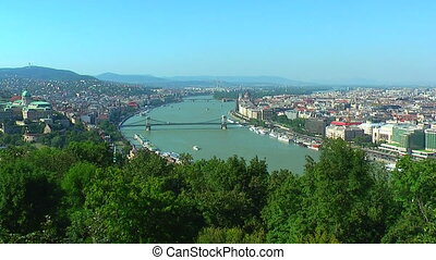 Zoom panorama of Budapest, Hungary - Zoom panorama of...