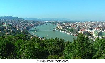 Zoom panorama of Budapest, Hungary