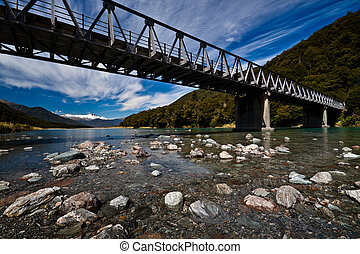 Alpine bridge - Under long alpine bridge West Coast, South...