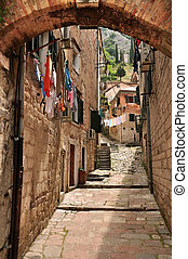 Backstreet in Kotor, Monteneg