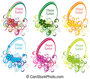 Colored Eastern eggs background