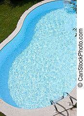 Backyard pool detail