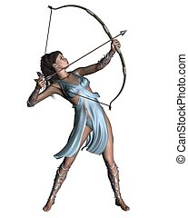 Diana Artemis the Huntress - Diana the Ancient Roman Goddess...