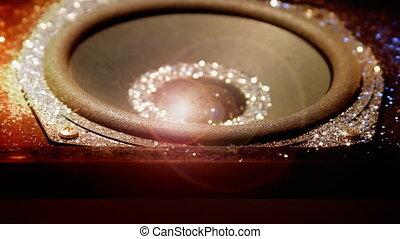 Glitter Speaker Lens Flare