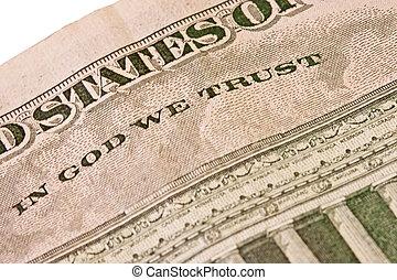 Usd dollar bill detail