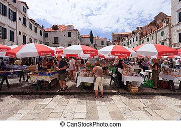 Dubrovnik market - Dubrovnik old town daily fresh market